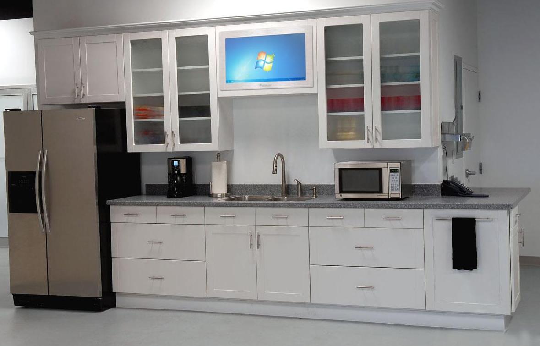 Køleskab Hvidt køkken Indvendig design Køkkenskabe Døre Glas