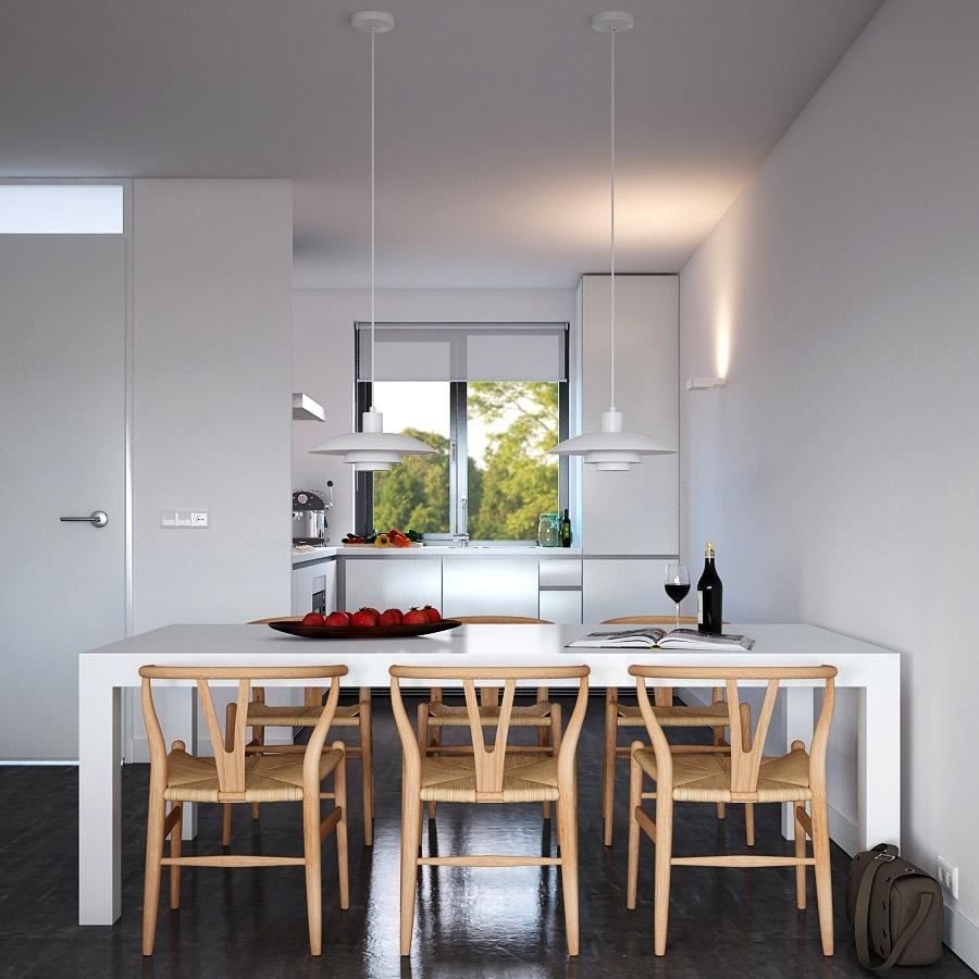 triple-d-neutral-sten-lejlighed-med-naturlige-tilbehør-køkken-spisestue-pendul-belysning