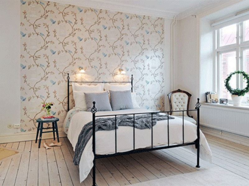 chambre-déco-idées-chambre-homme-papiers peints-dessins-oiseau-papier peint-dessins-pour-chambre-papier peint