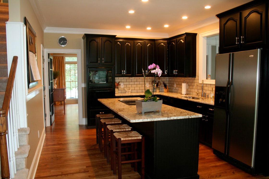 armoires-de-cuisine-noires