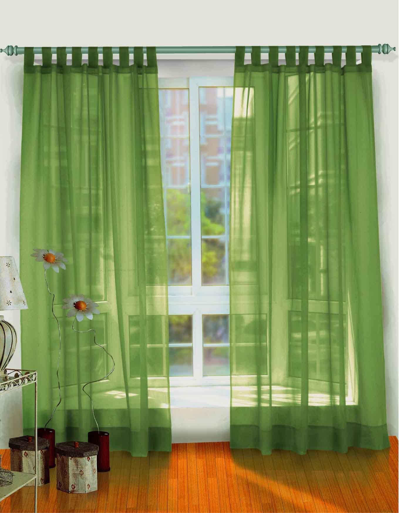 klassisk grøn-gardiner-og-dekoration