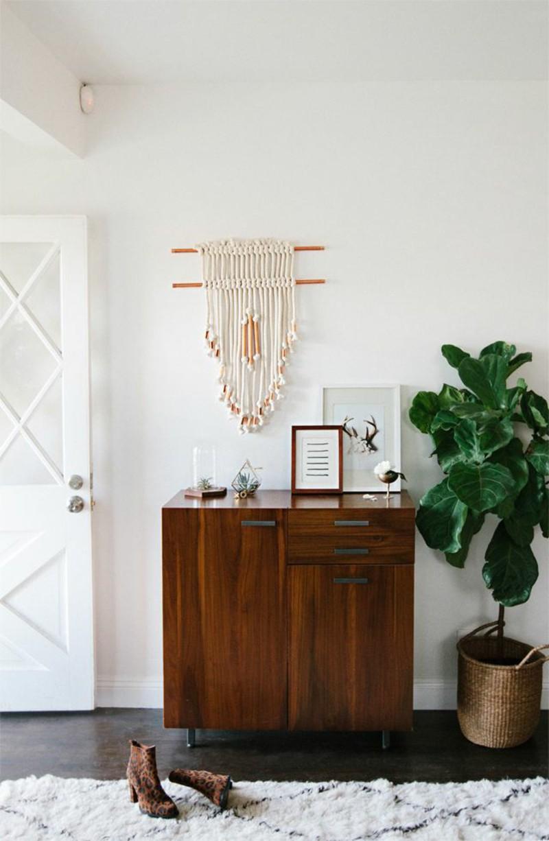 kreativ-væg-dekoration-ideer-gangen-bryst-of-skuffer-møbler-til-vestibuler