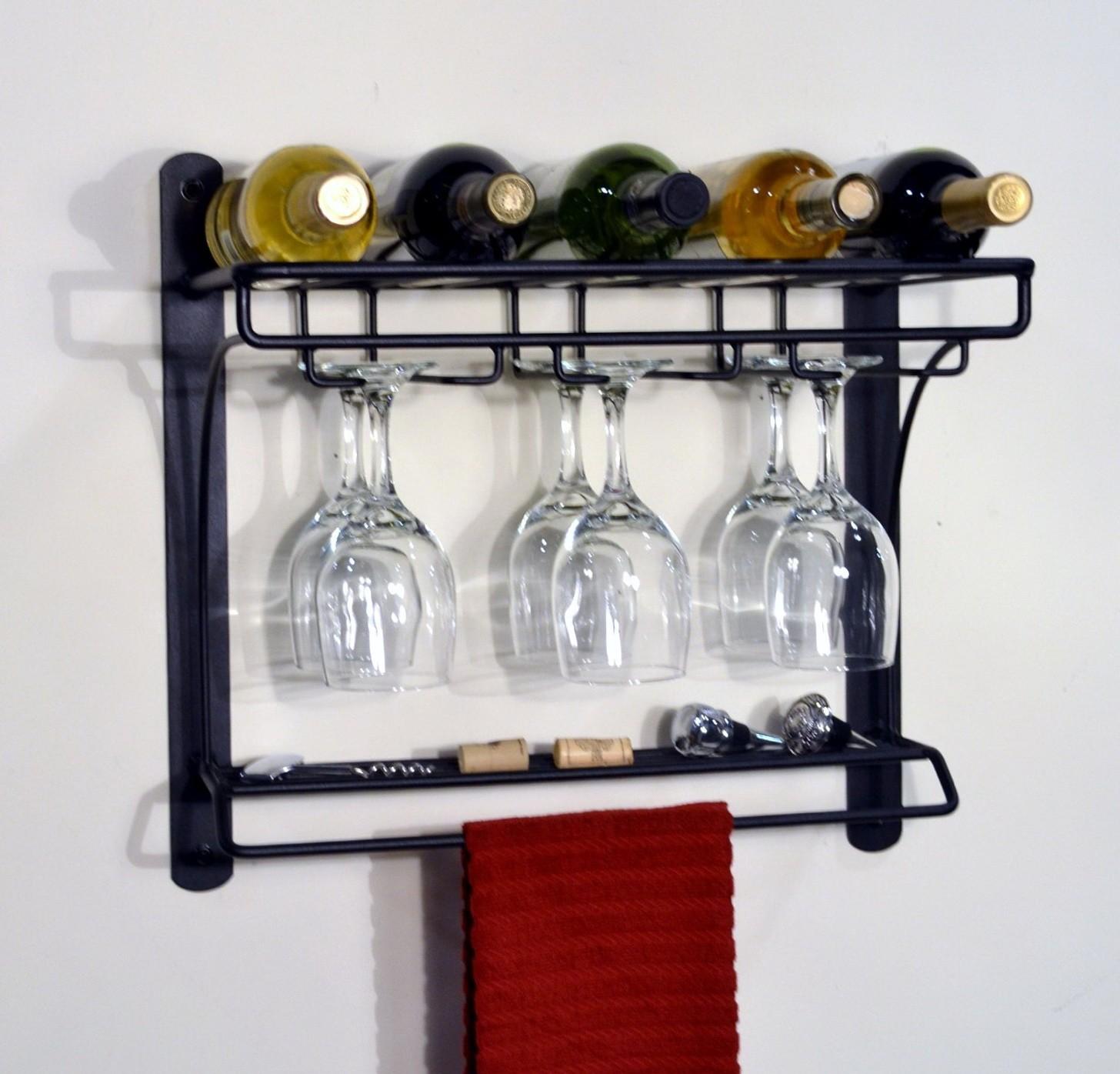 spisestue-interiør-ideer-køkken-ikea-vin-stativer-og-simple-vægmonteret-sort-poleret-med-glas-bøjle-også-vintage-view-vin-racks-big-ideer-for- små-vin-stativer