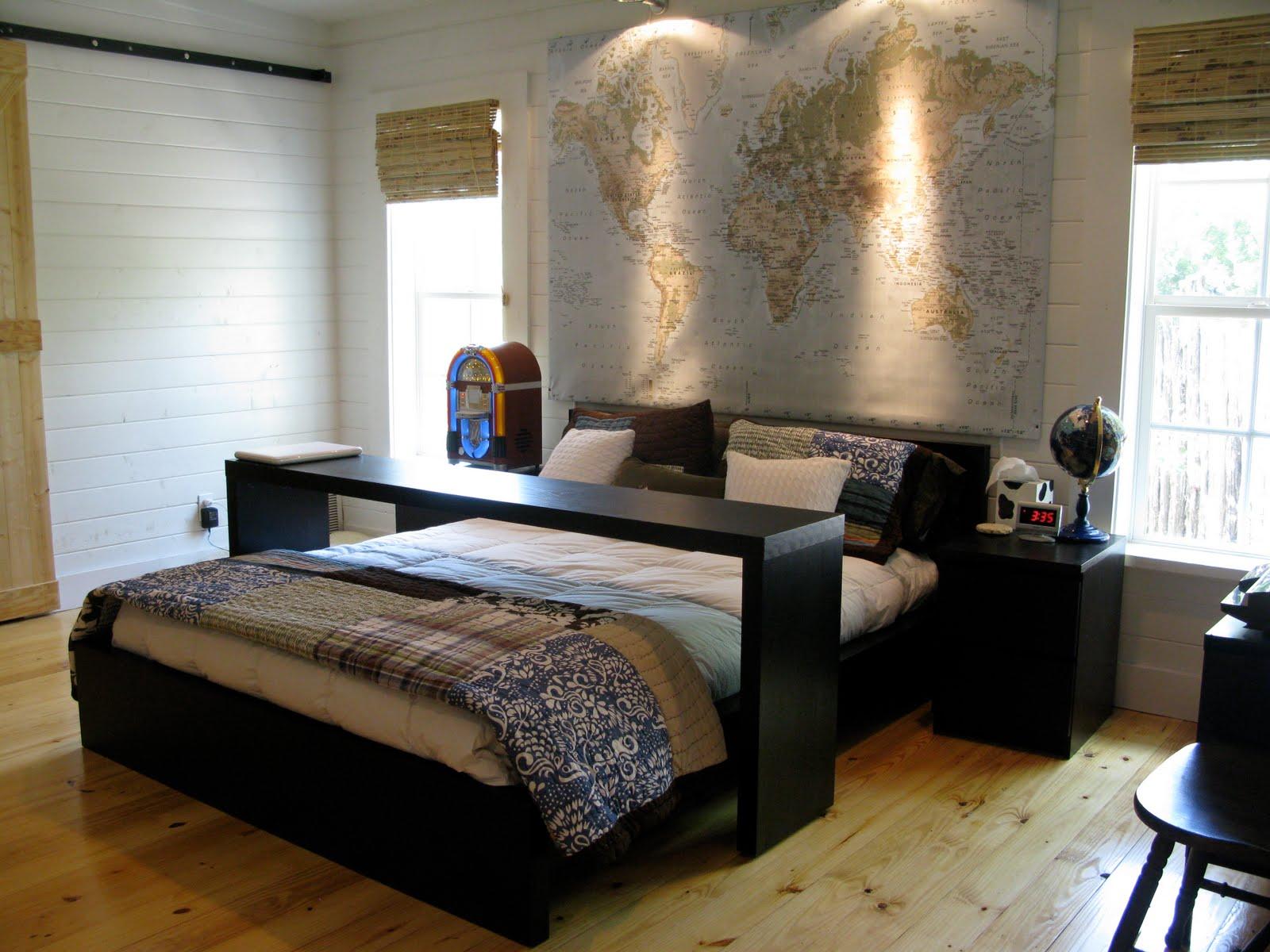 guddommelig-moderne-sort-sengetøj-møbler-set-fra-ikea-til-din-lille-værelses-design-ideer-med-map-og-globe-ornament