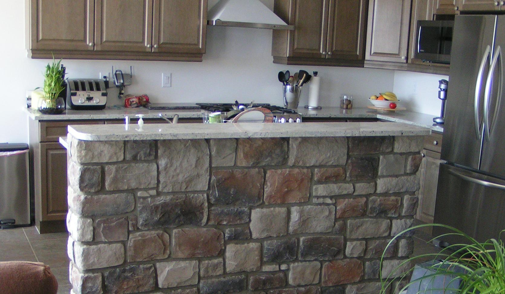 stenbue i køkkenet