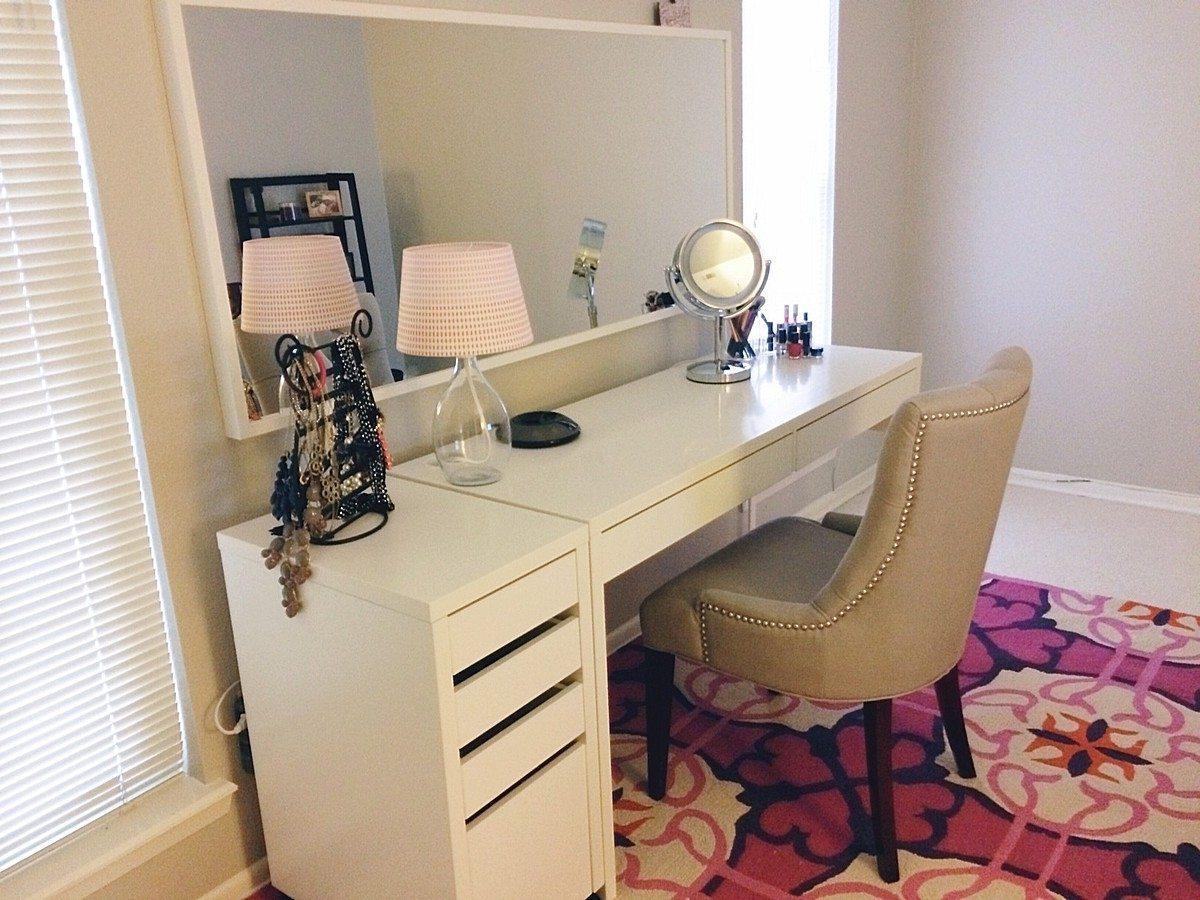 IKEA-Micke-skriveborde-as-forfængelighed-minimalistisk-desk-design-ideer