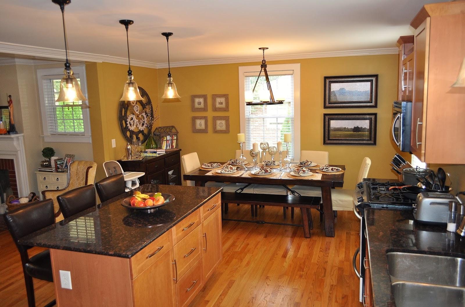 køkken-remodel-møbler-interiør-udsmykning-stue-dekoration-fantastisk-moderne-køkken-med-sort-granit-borde-og-rustfrit køkken-apparater-også-bare-spisebord-til-åbne gulv-plan-ki