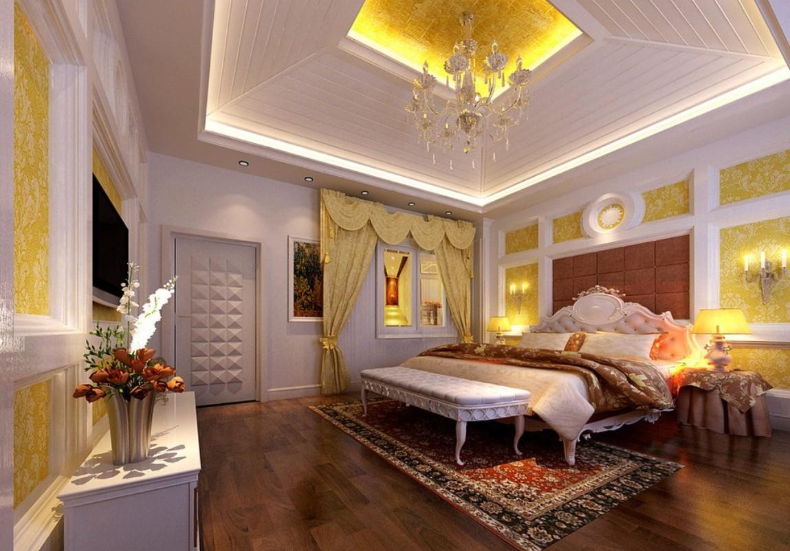 luxueux-master-chambre-designs-avec-plateau-en-bois-plafond