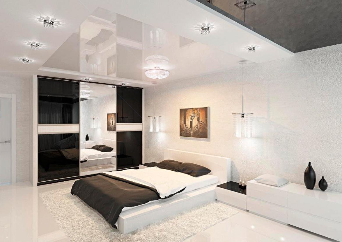 moderne-sort-hvid-værelses
