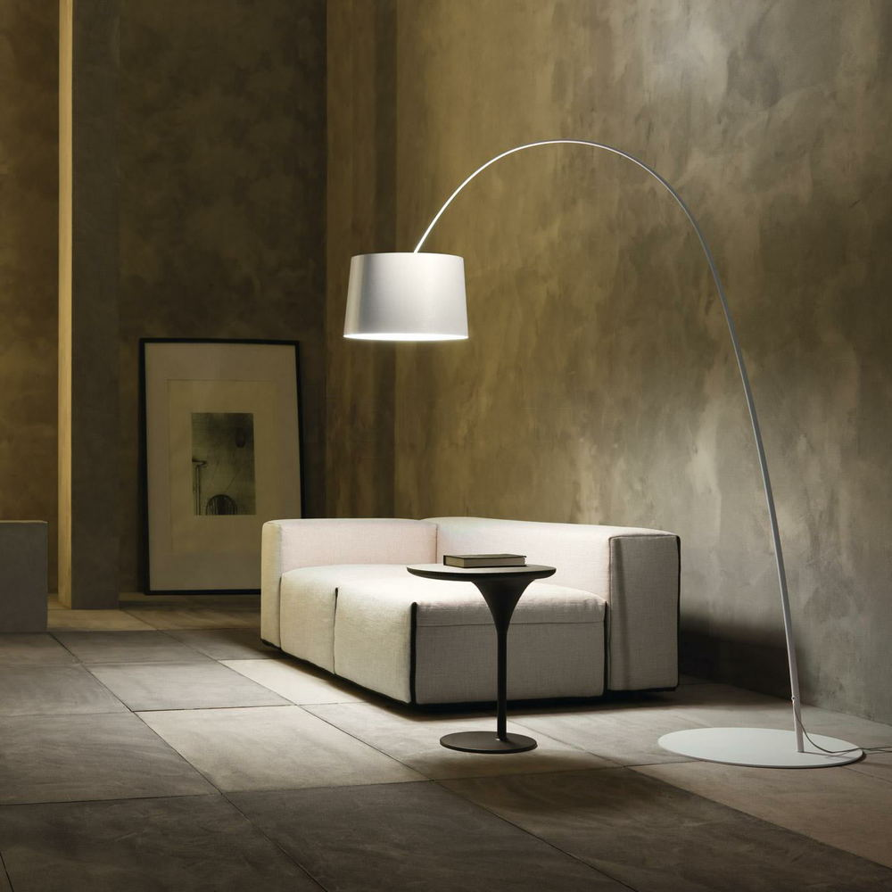 moderne-gulv-lamper-børstet nikkel