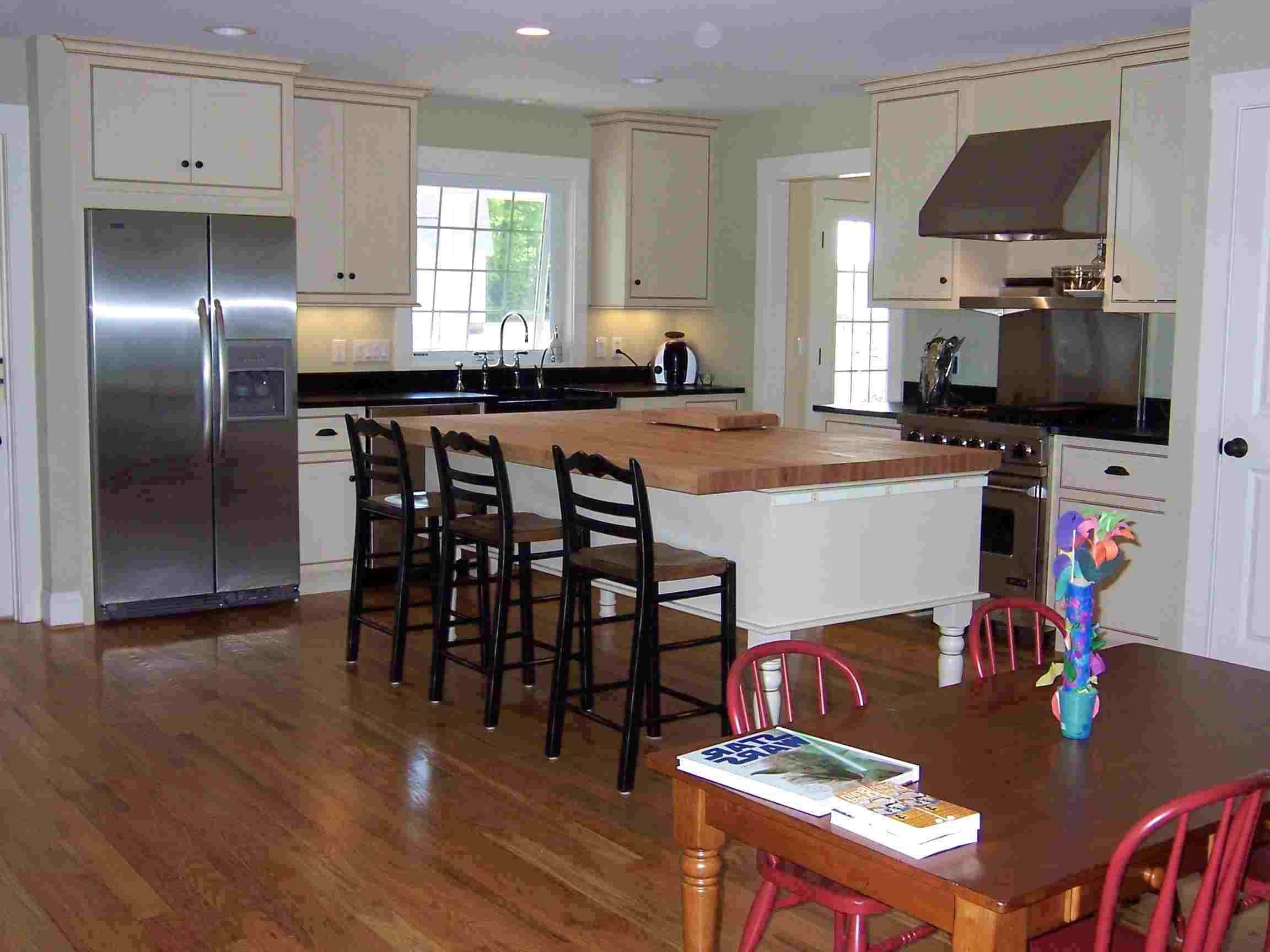 åbent køkken stue spisestue grundplan