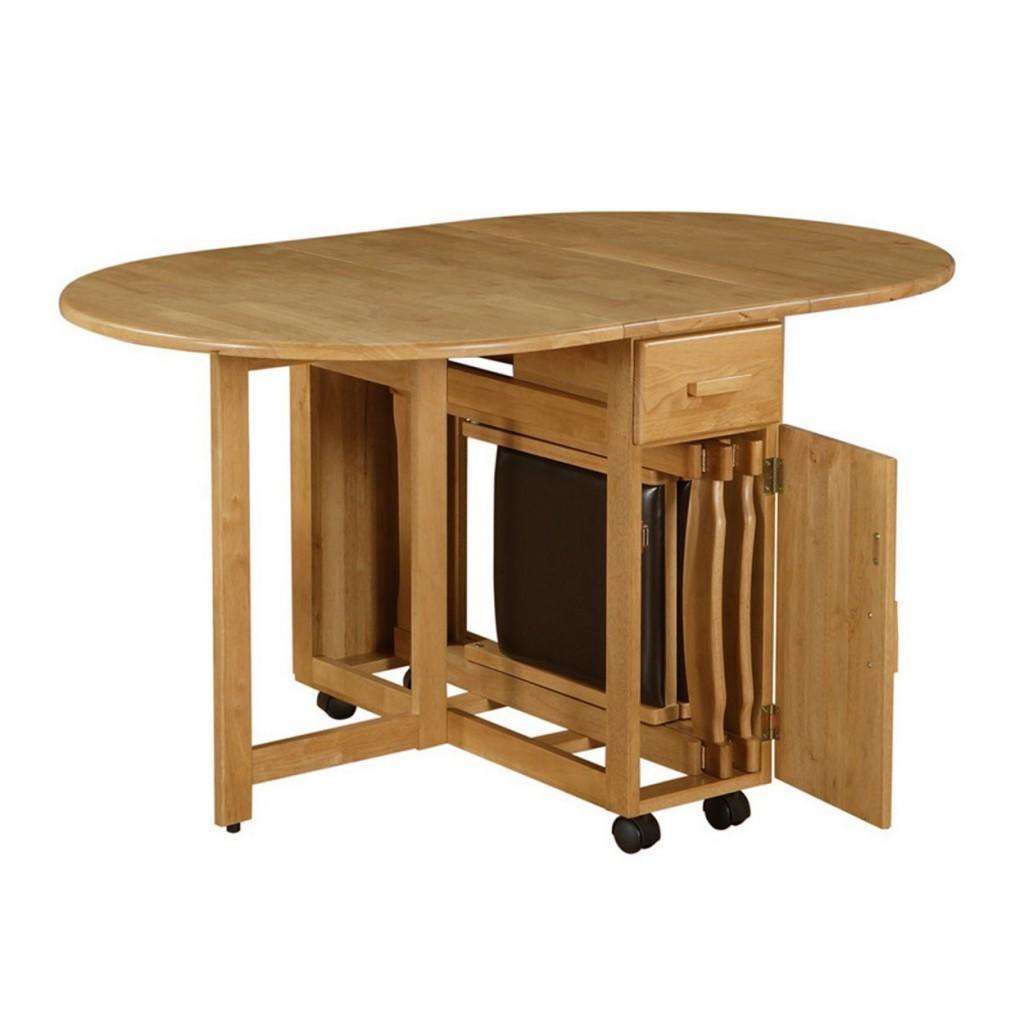 ovel halvt tyr-næse-top-fold-spisebord-made-of-ahorn-træ-i-beige-færdig-der-single-skuffe-og-4-sort-hjul-med-foldning-tabeller- også-sammenklappelig-spisebord-ikea