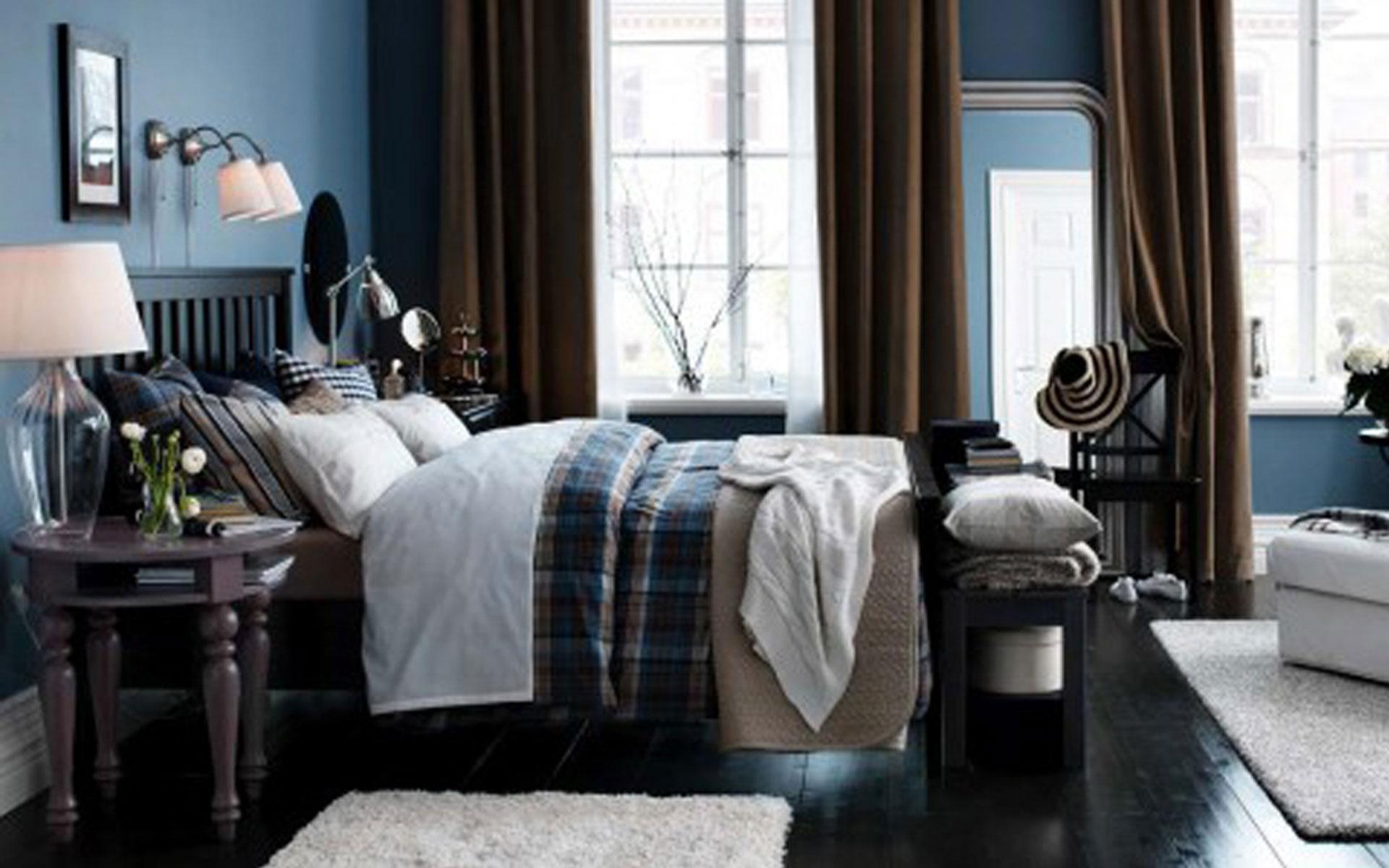 populære design-ikea-bedrom-med-moderne-brun-ren-gardin-og-træ-sort-seng-design-for-ikea-værelses-gardiner-ikea-bedrom-med-ny-moderne-møbler-design- til-fantastisk-ikea-værelses-design