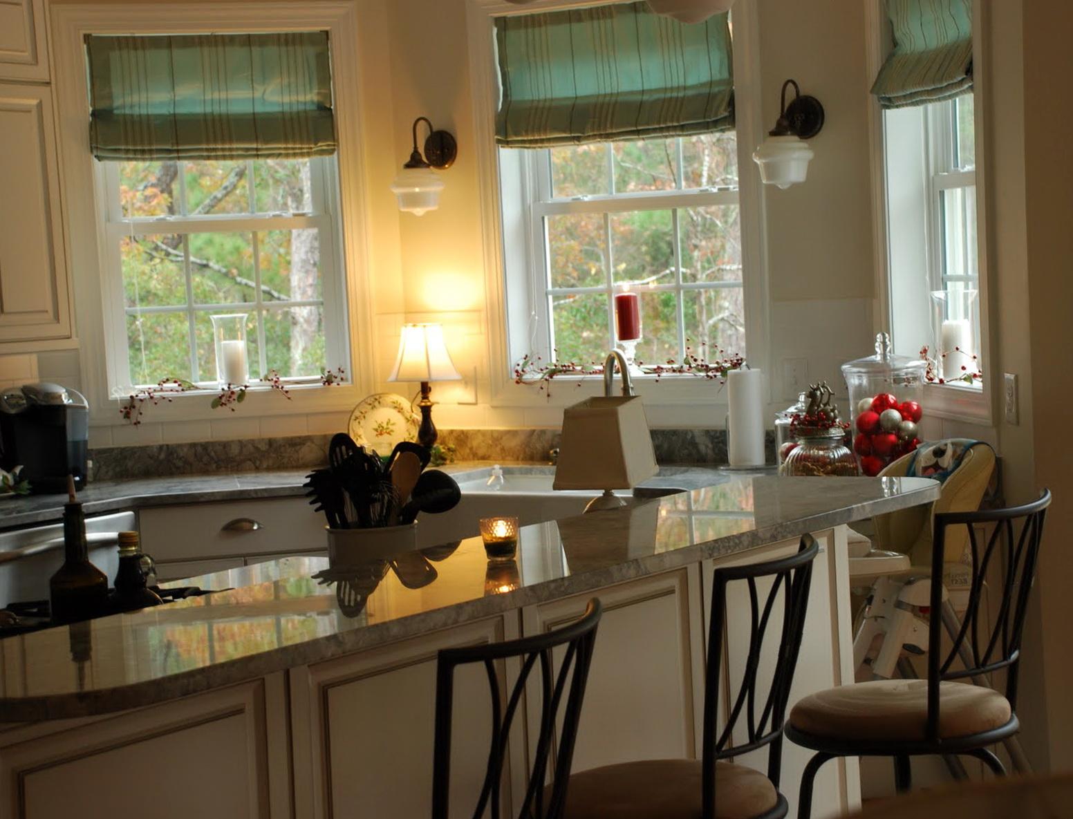 gardiner i køkkenet - en smuk kombination