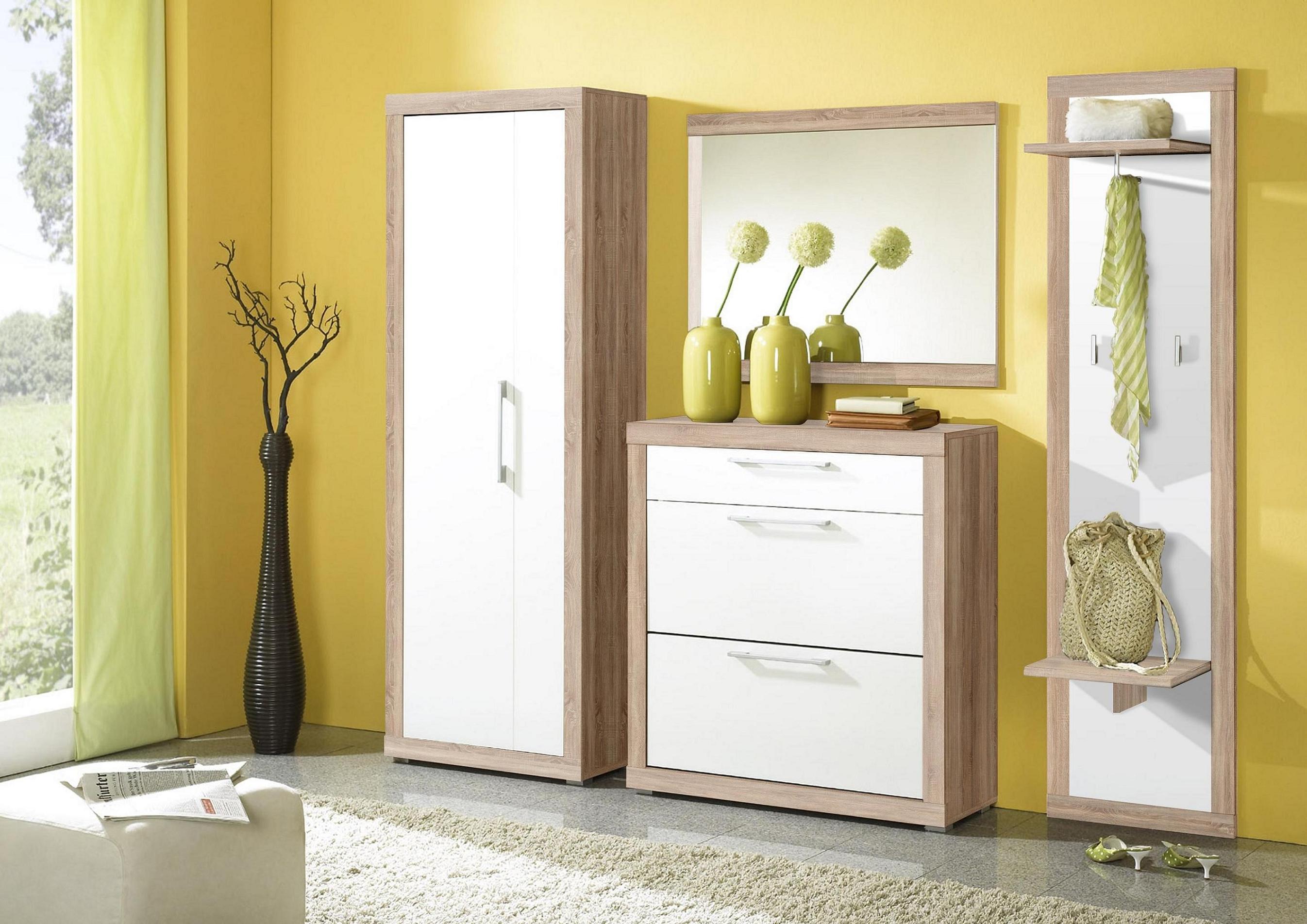 meuble-couloir-design-vintage-avec-armoire-en-bois-miroir-et-tiroir-blanc