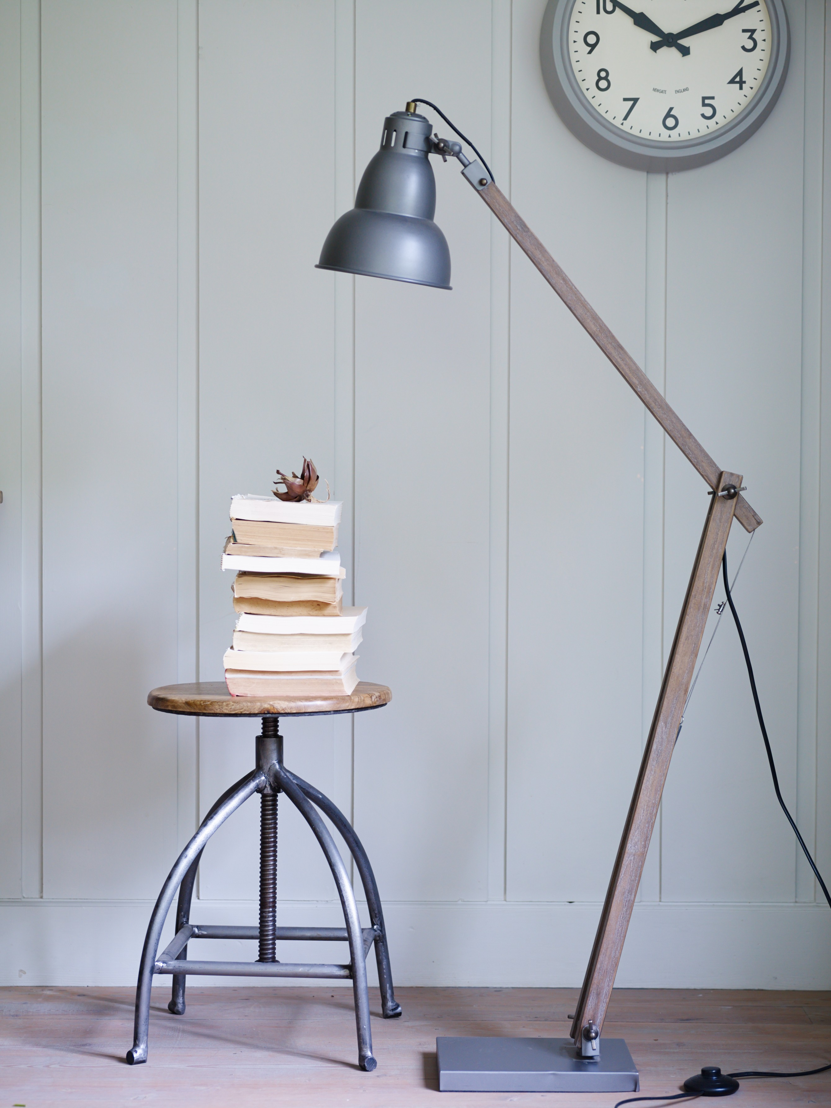 vintage-stil-gulv-lampe