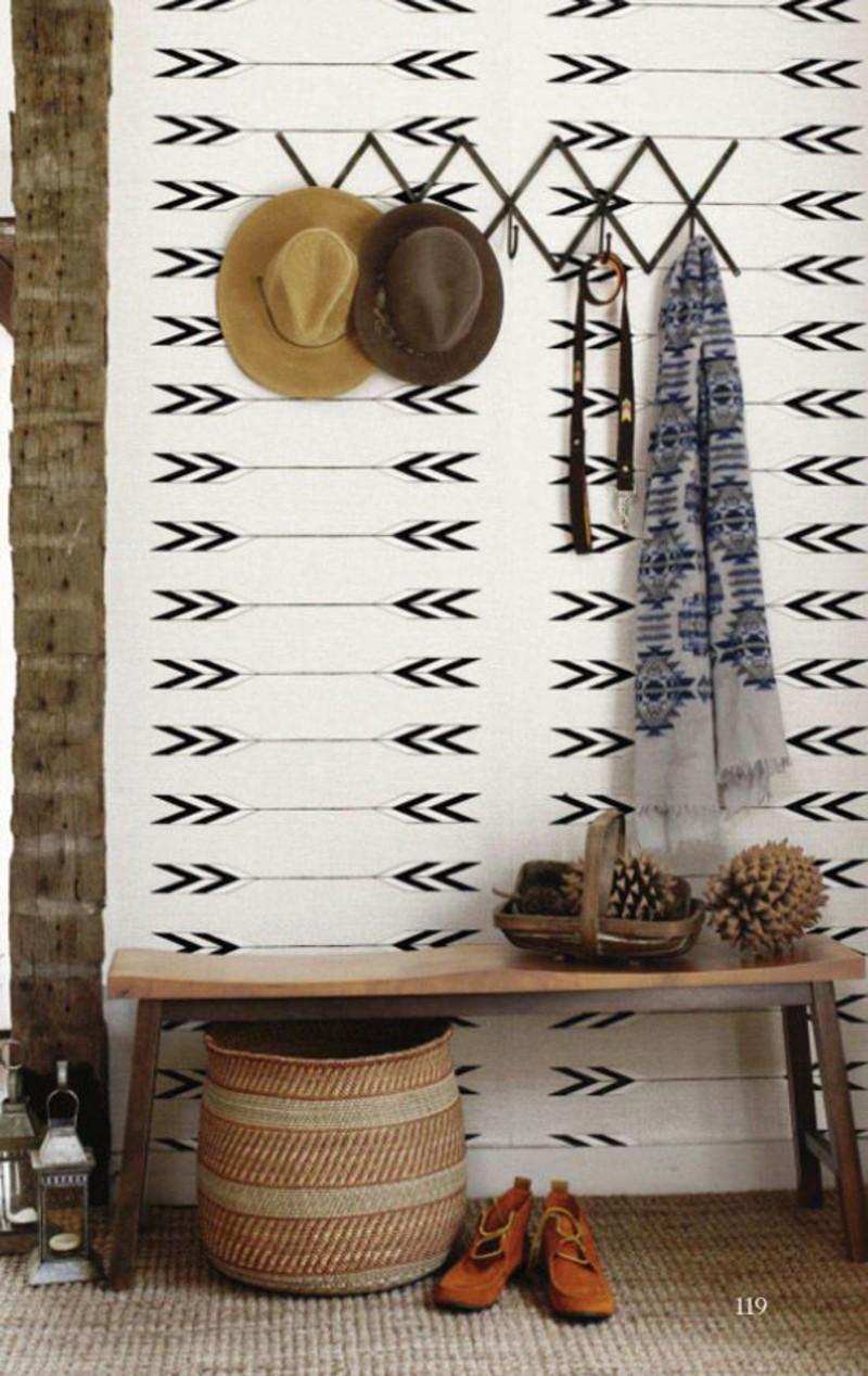 décoration-murale-idées-papier-peint-meubles-de-sol-pour-vestibules