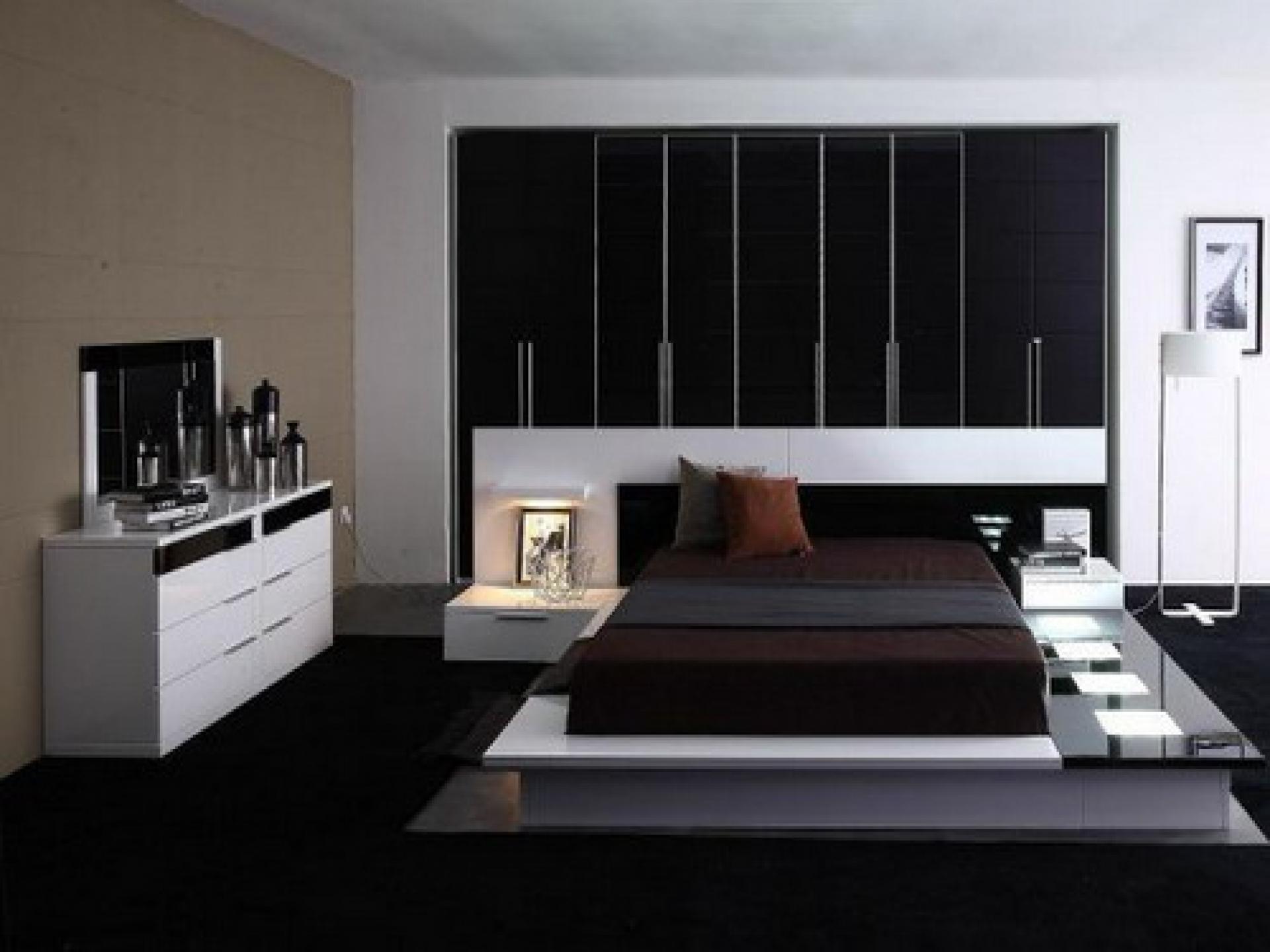 vidunderlige-hjem-interiør-værelses-design-ideer-med-dragende-brun-madras-og-moderne-hvid-træ-skænk-nær-elegant-runde-tromme-gulv-lamper-som-godt-som-værelse designs-til-små-soveværelser-også-værelses