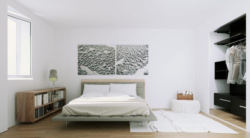 skandinavisk-lejlighed-naturlige-træ-og-monokrom-værelses