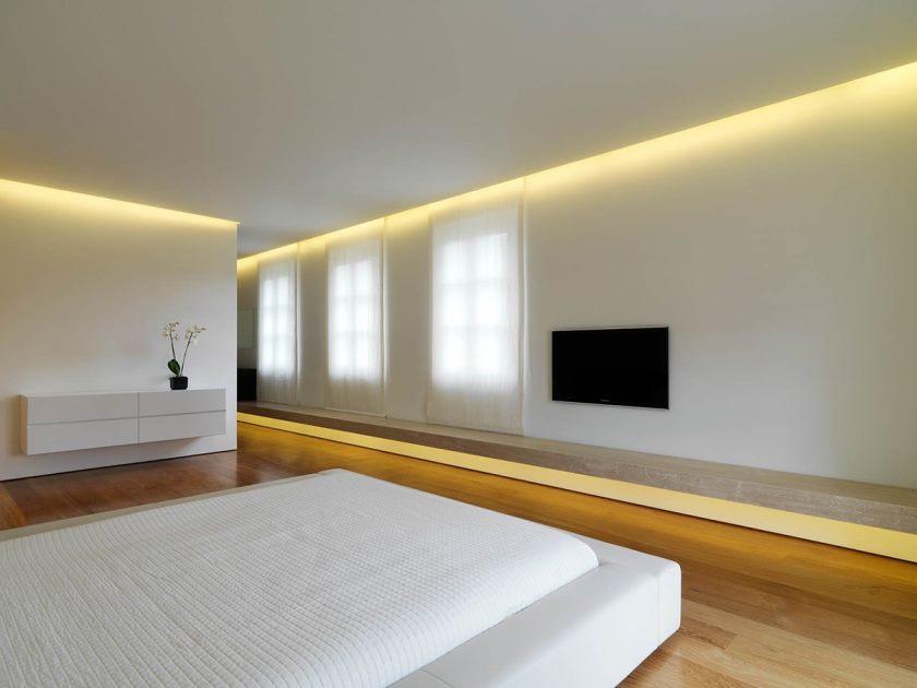 Soveværelse Soveværelse Minimalistisk interiør med smukke designideer til stilfuld sammen med smukke minimalistiske soveværelseslejlighed med hensyn til hus