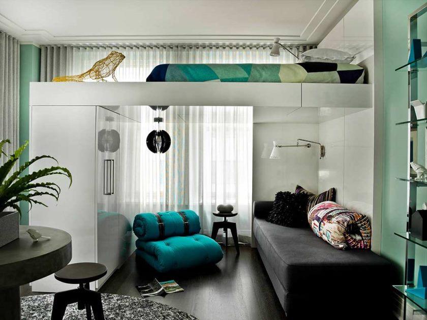 Intérieur d'un petit appartement