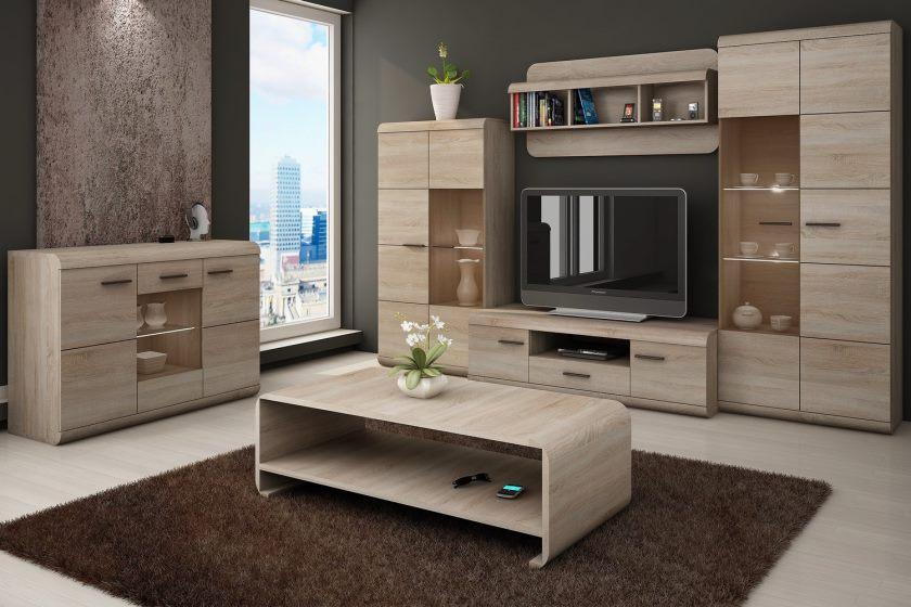 Moderne møbler i stuen
