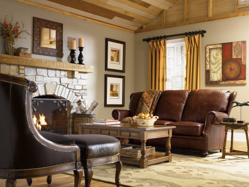 living-rooms-peachy-grey-country-style-living-room-design-with-brown-leather-three-seat-sofa-and-retro-two-level-coffee-table-also-traditional-cheminée-amazing- salon-inspiré-du-pays