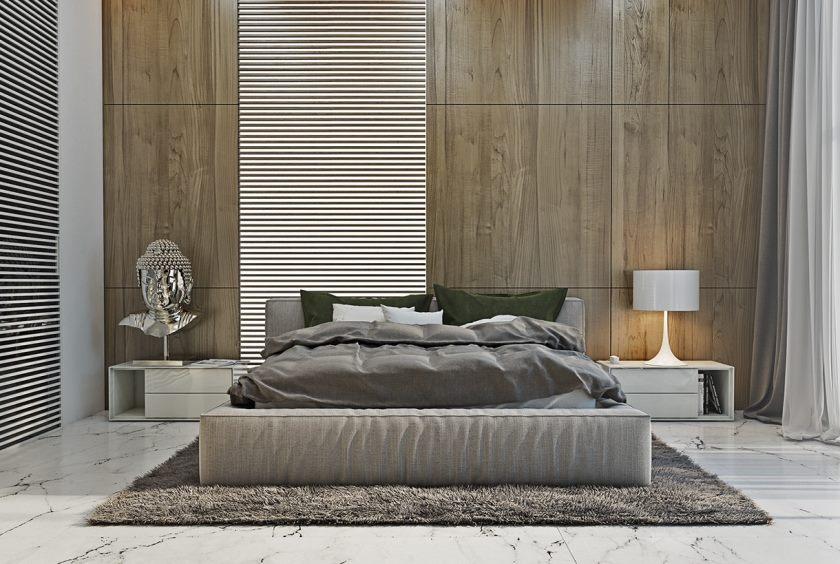 moderne minimalistisk asiatisk stil-værelses