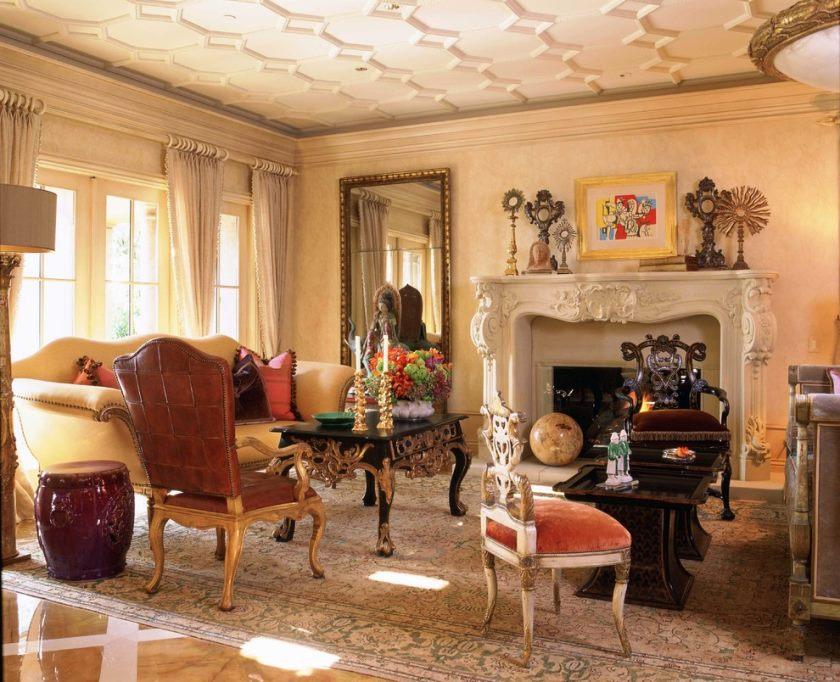 Salon de style champêtre
