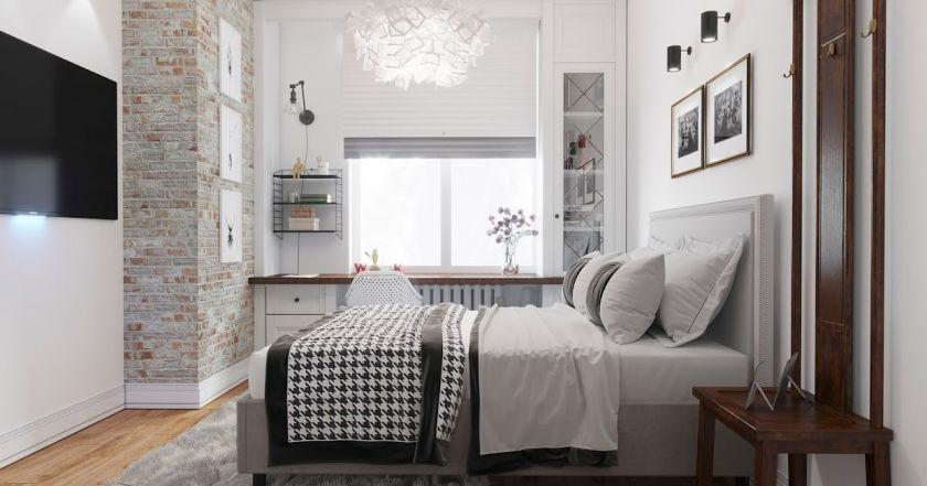 Soveværelse i skandinavisk stil