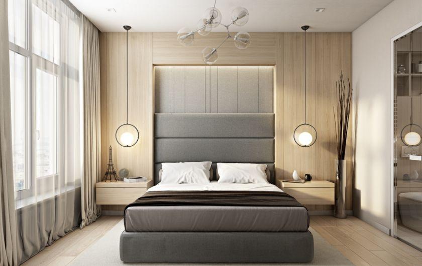 lyst soveværelse