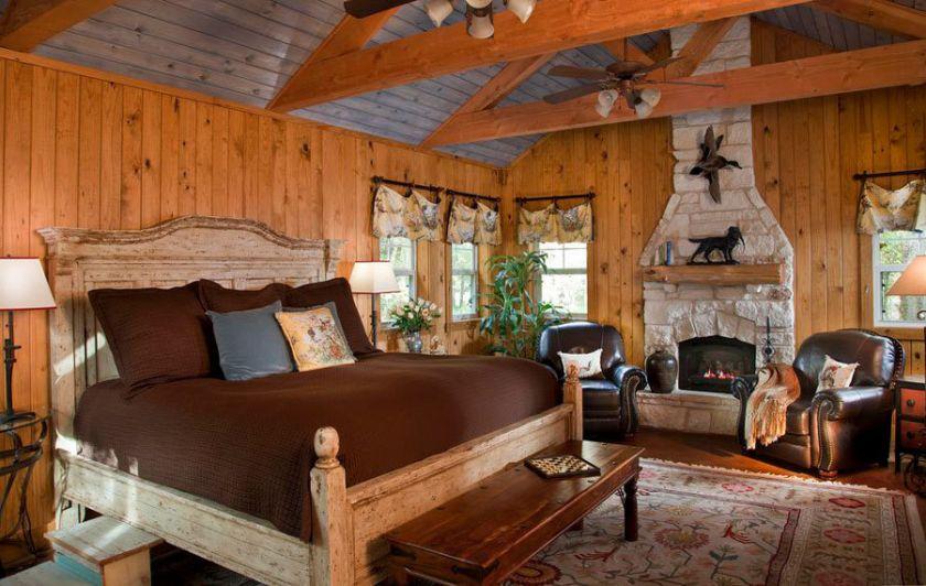 Rustikt soveværelse