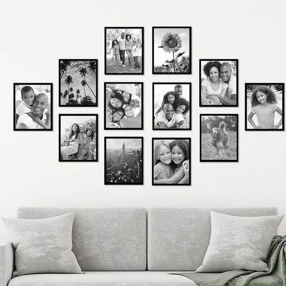 photos de famille en noir et blanc