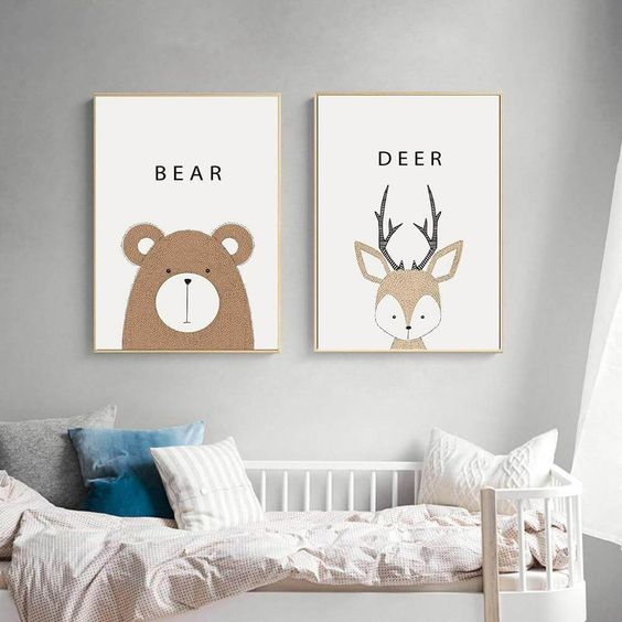 affiche: ours et cerf