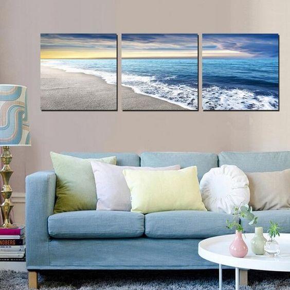 photo avec mer et coucher de soleil