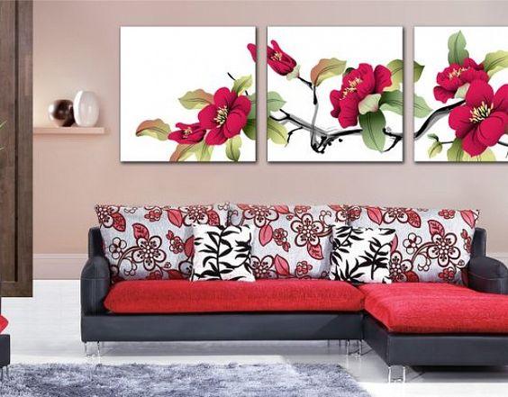 photo de fleurs dans le salon