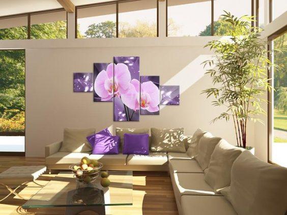 peintures de fleurs modulaires