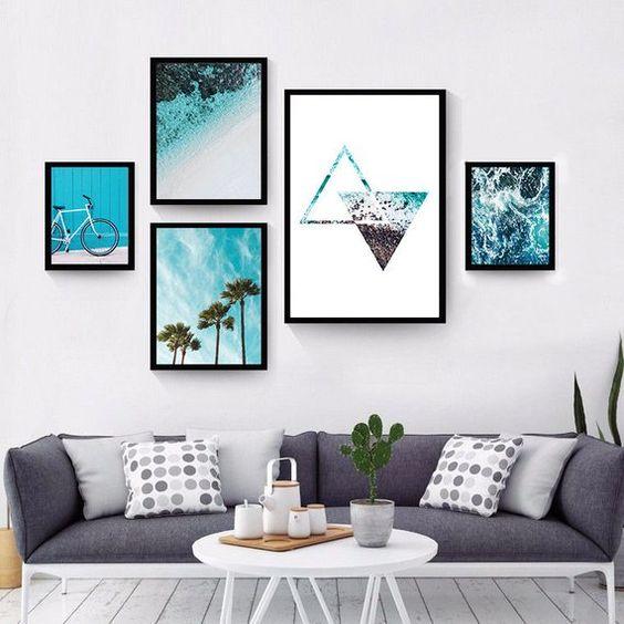 affiches intéressantes bleu