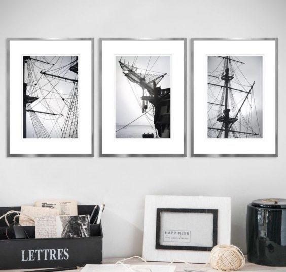 photos en noir et blanc à l'intérieur