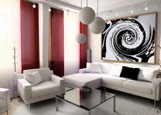 peinture de designer en noir et blanc