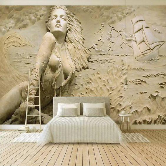 grande toile dans la chambre