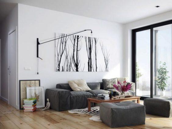 toile noir et blanc