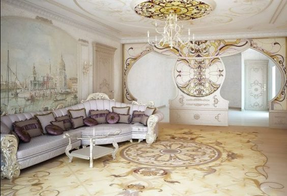style baroque à l'intérieur