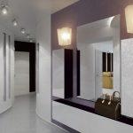 couloir intérieur dans l'appartement