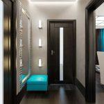 décoration du couloir de l'appartement dans un style moderne