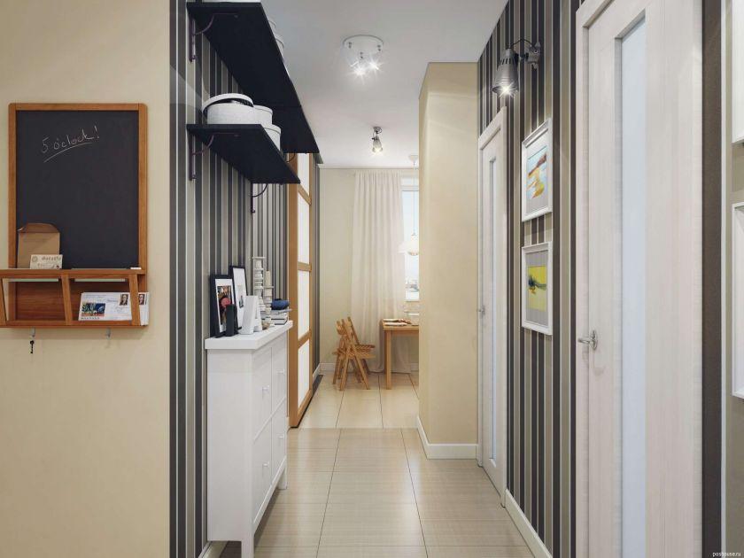 revêtement de sol dans le couloir