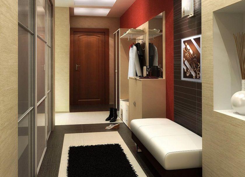 photo d'un couloir moderne dans un appartement