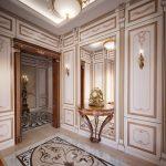 Style baroque dans le couloir