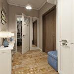 Style Art Nouveau à l'intérieur du couloir