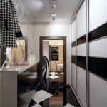 couloir en noir et blanc